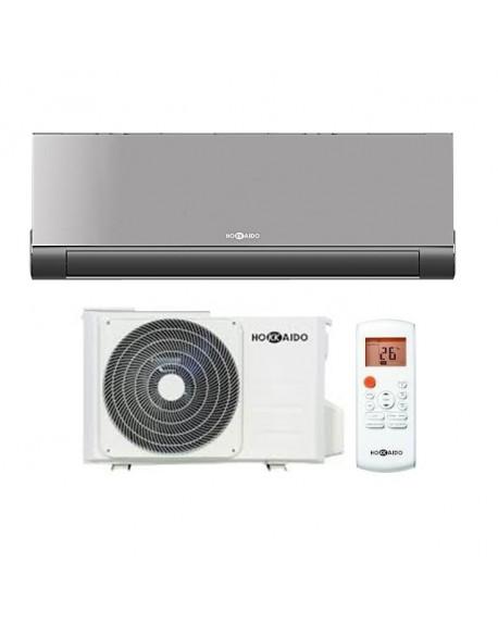 Climatizzatore Condizionatore Hokkaido V-Design Dark Silver 9000 BTU WI-FI Monosplit  parete DC Inverter R32 A++/A+