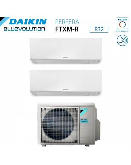 Climatizzatore Daikin Bluevolution Dual Split Inverter serie FTXM/R PERFERA WALL 9+9 con 2MXM40M/N R-32 Wi-Fi Integrato