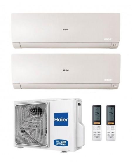 Climatizzatore Condizionatore Dual Split Inverter Haier FLEXIS PLUS WHITE 12000+12000 btu R-32 Inverter U.E. 5.0 Kw Wi-Fi A++ A+