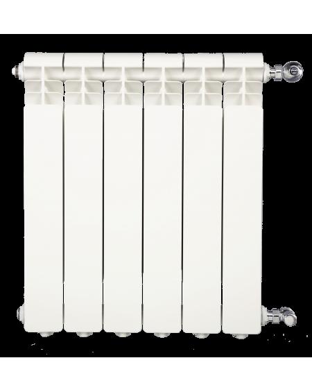 Termosifoni Radiatori da 2 a 9 Elementi in Alluminio Iseo 700 Global Bianco RAL9010
