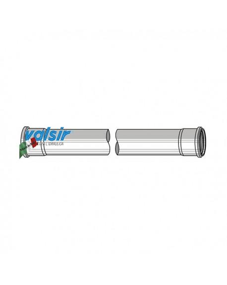 VALSIR Tubo scarico grigio PP 3 STRATI 2 bicchiere D. 110 L 1000