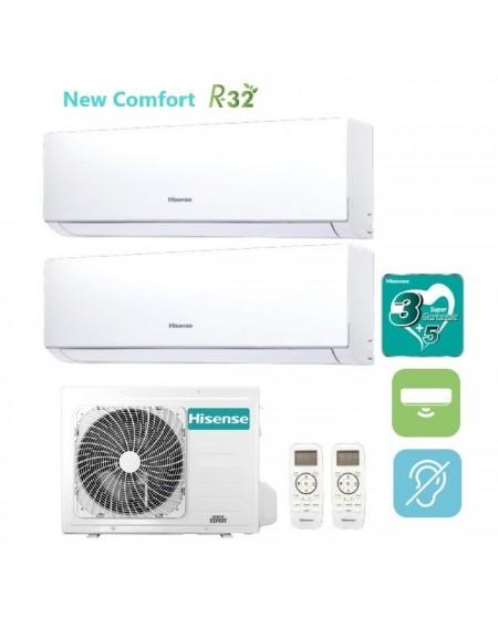 Climatizzatore Condizionatore Hisense Dual Split Inverter New Comfort R-32 9000+9000 con 2AMW42U4RRA 9+9 A++ Wi-Fi Optional