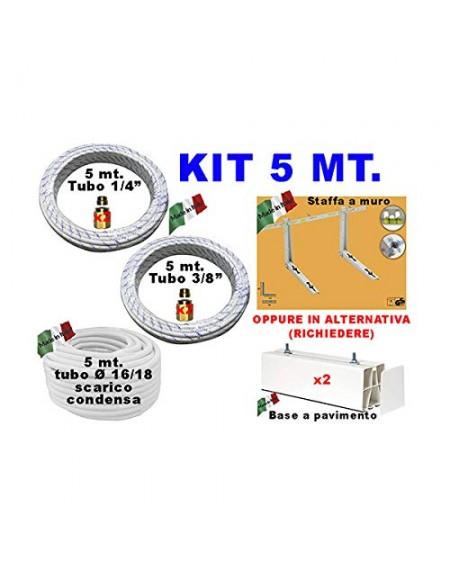 KIT INSTALLAZIONE CONDIZIONATORE TUBI RAME 1/4 3/8 5 MT
