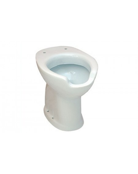 Wc disabile con apertura cm.58X38,5XH49 civita cromo