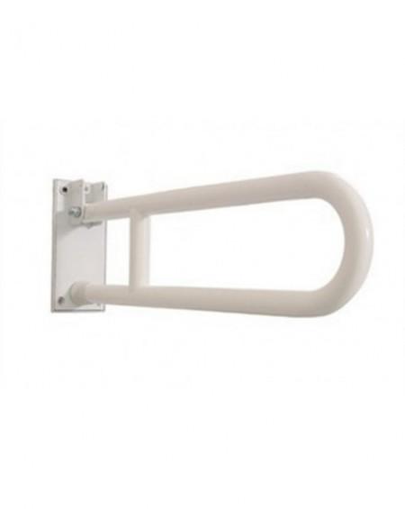 Maniglione disabile di sostegno ribaltabile con portarotolo cm.80 civita cromo