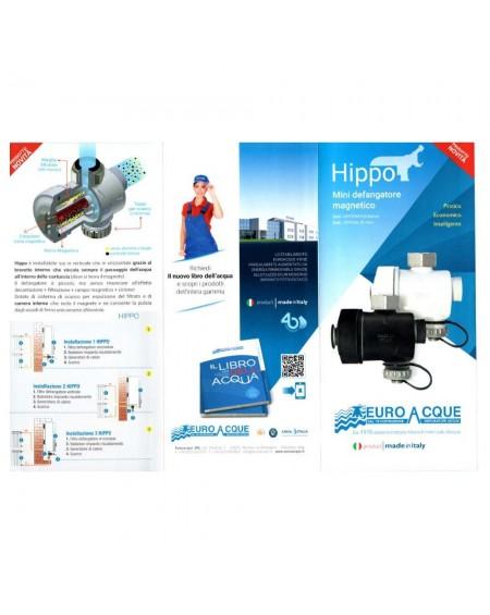 Mini defangatore filtro magnetico salvaspazio hippo nero euroacque