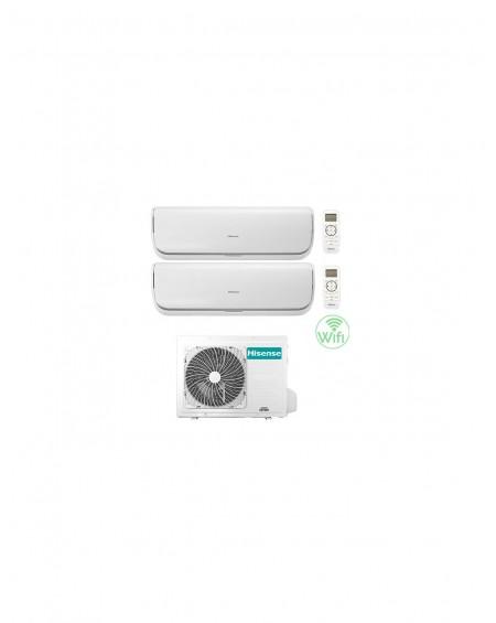 Climatizzatore Condizionatore Hisense Silentium Wifi R32 Dual Split Inverter 9000 + 12000 BTU con U.E. 2AMW50U4RXA Classe A++/A+
